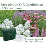 A Gift Certificate is the perfect gift for the gardeners on your list.